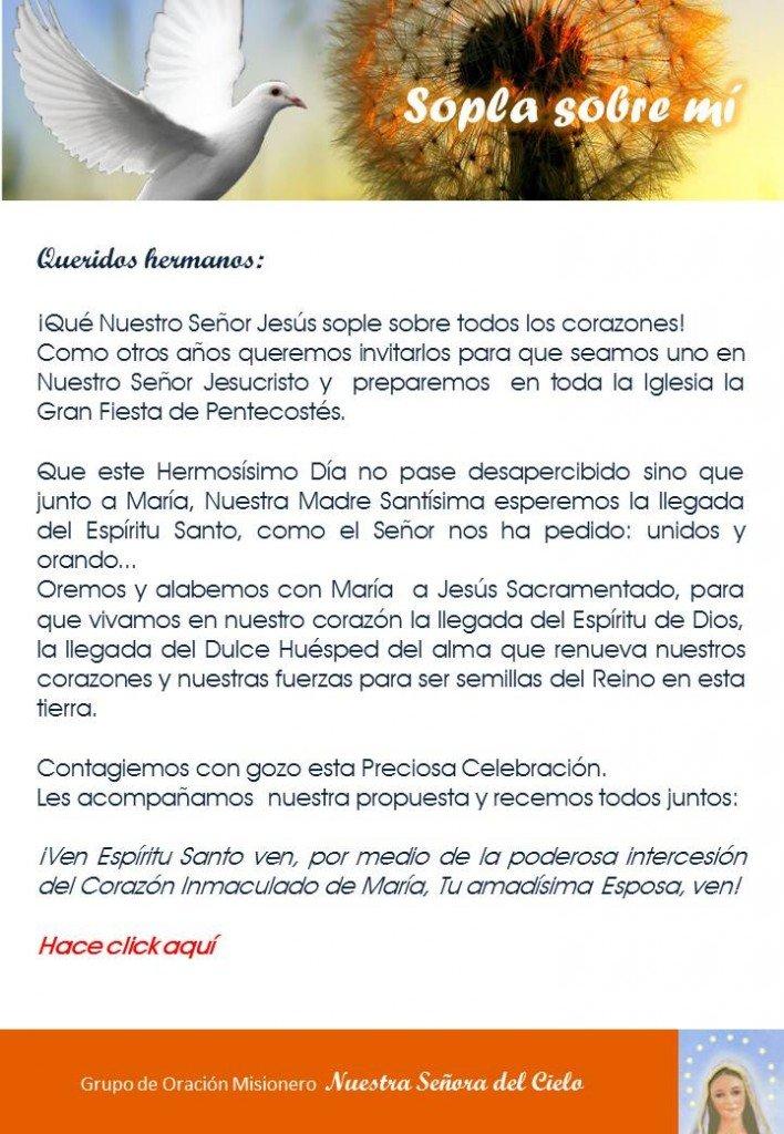 Carta Presentacion Pentecostes 2014