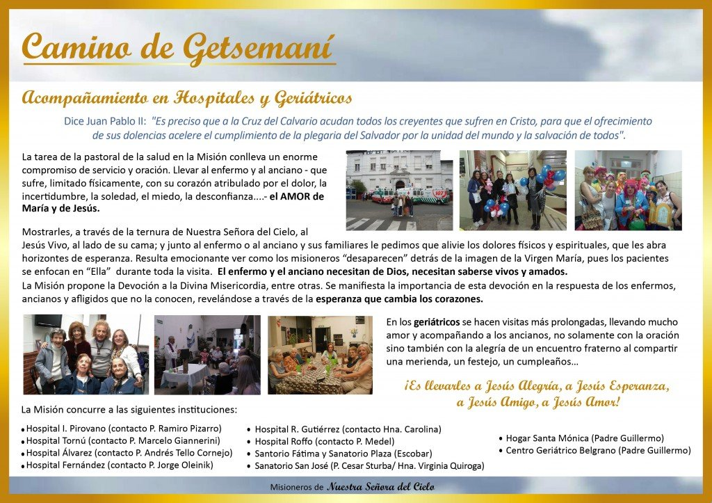 Carpeta Institucional - Camino de Getsemani