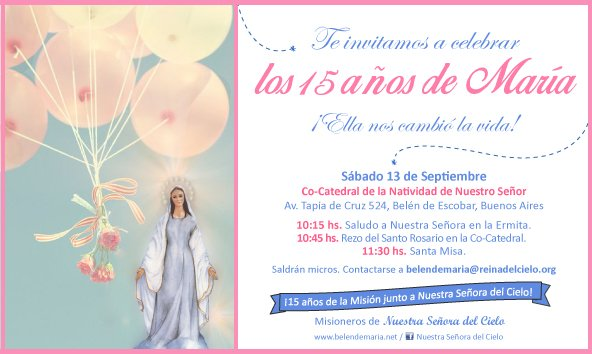 Invitacion 15 años Mision 2014 2