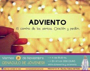 Invitacion Cenaculo de jovenes 21-11-14
