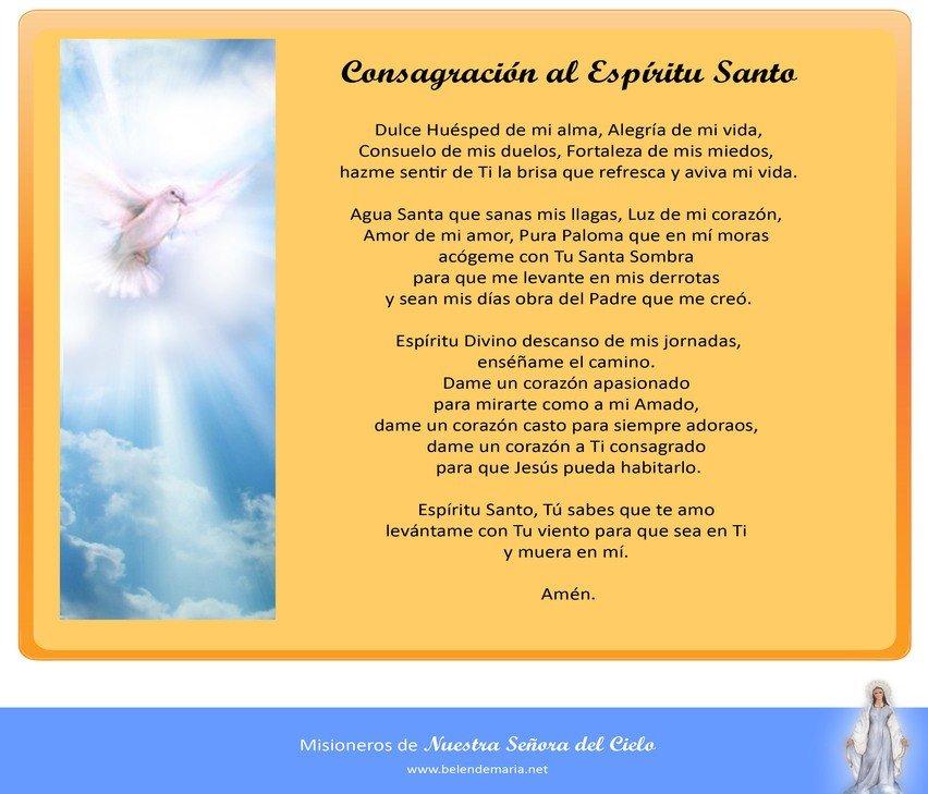 Consagracion al Espiritu Santo