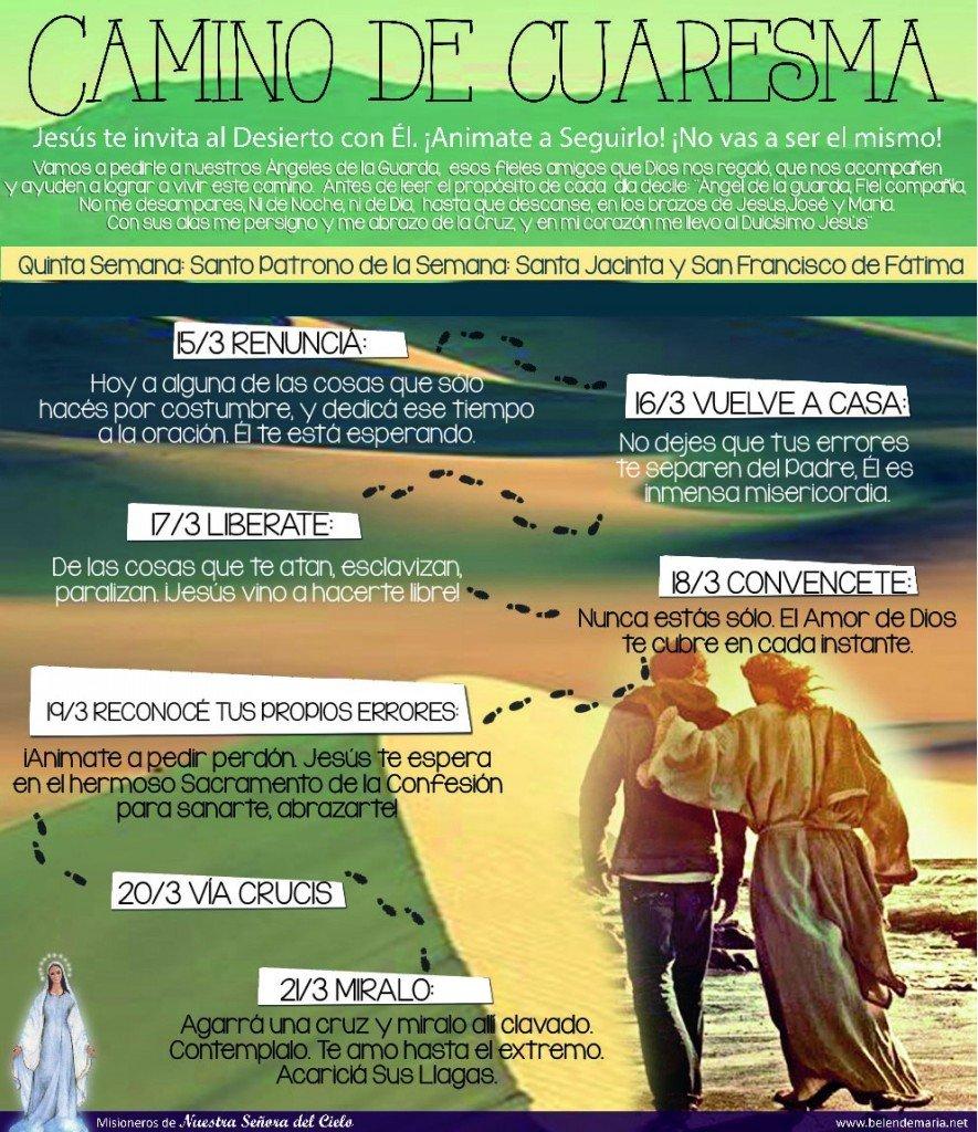 Camino de Cuaresma 2015 - Semana 5