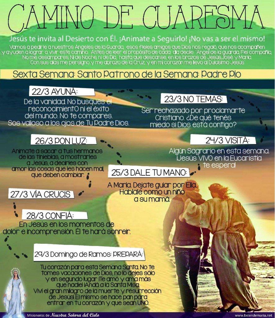 Camino de Cuaresma 2015 - Semana 6