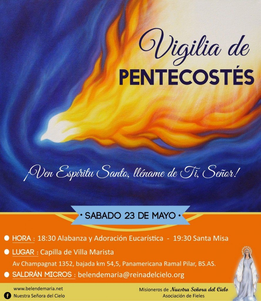 Invitacion Pentecostes 2015