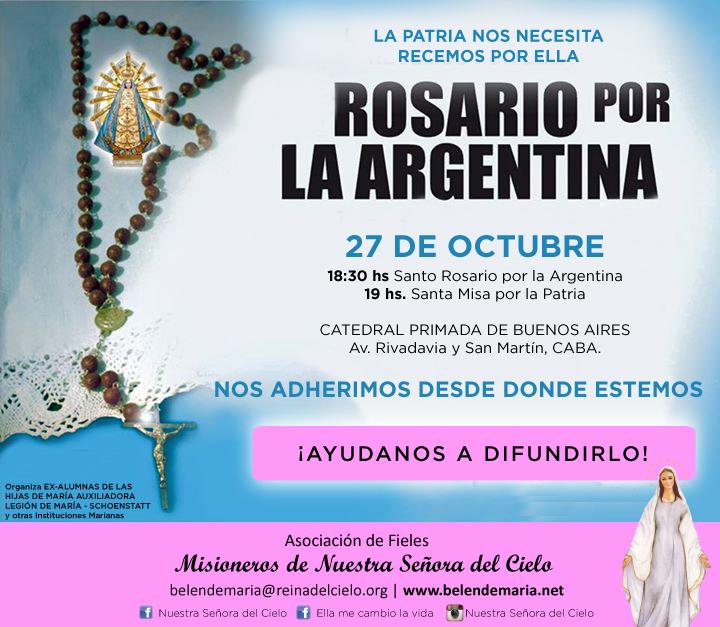 Rosario por Argentina 27-10-17