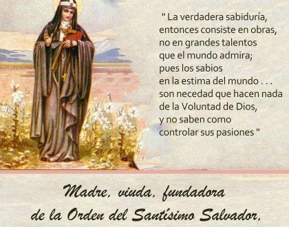 23 de Julio: día de Santa Brígida
