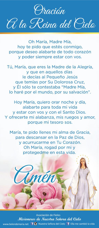 👑 Oración a la Reina del Cielo