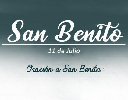 11 de Julio: dia de San Benito
