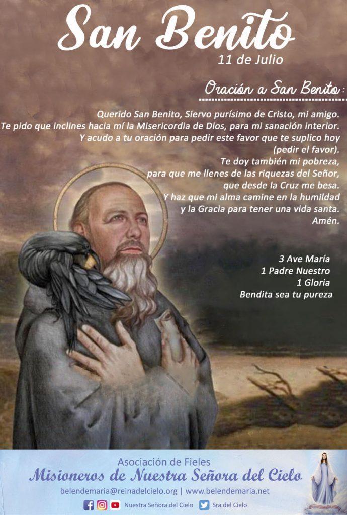 Querido San Benito, siervo purísimo de Cristo, mi amigo. Acudo a tu oración ORA ET LABORA